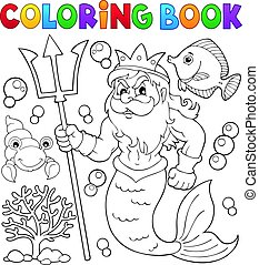 Coloring book Poseidon