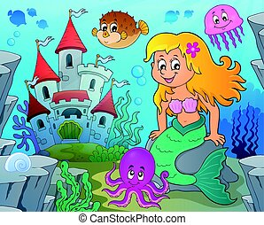 Mermaid topic illustration.