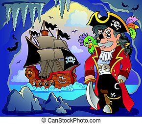 Pirate cove topic image 4 - eps10 vector illustration.