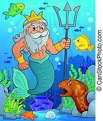 Poseidon theme image 2 - eps10 vector illustration.