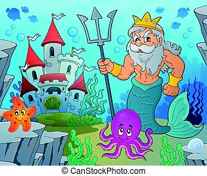 Poseidon theme illustration.