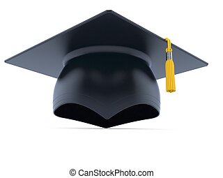 Mortarboard isolated on white background