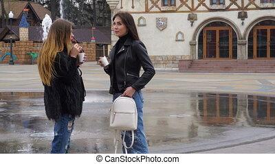 cute Ladies in the Park talking