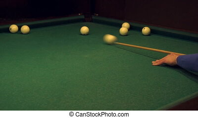 guys are playing Russian Billiards in slow motion