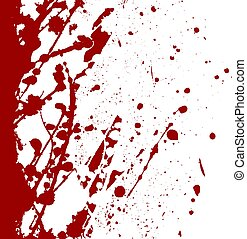 abstract vector paint splatter red color background