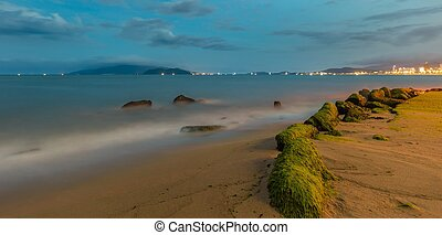 Nha Trang City Coastline - A long exposure view of Nha Trang...