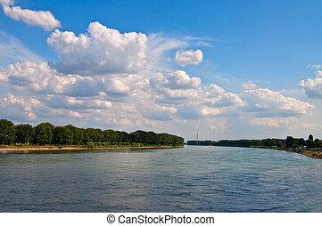 rhine view from nibelungen bridge