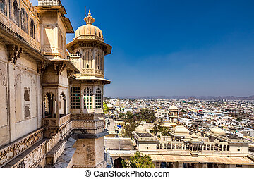 Udaipur castle view - View from high point upon Udaipur...