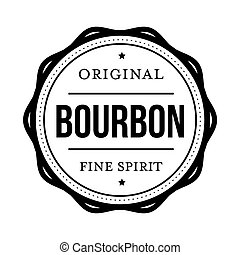 Bourbon vintage stamp sign vector