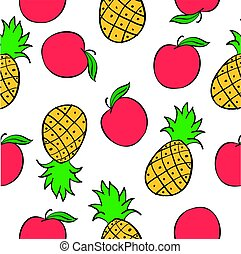 Collection of fruit pattern style