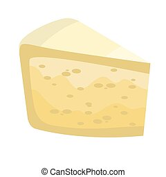 cheese brie in vector flat design for food illustration and...