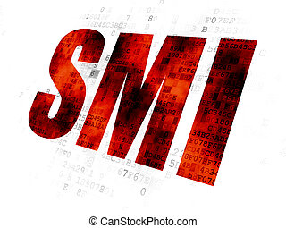 Stock market indexes concept: SMI on Digital background
