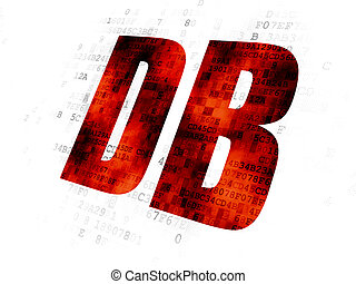 Stock market indexes concept: DB on Digital background