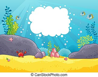 Sea background. Vector illustration.