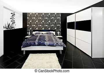 floral, chambre à coucher