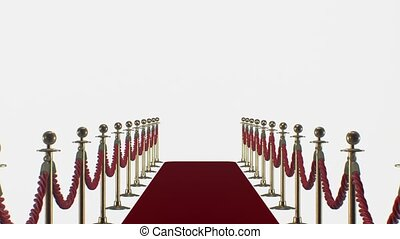 Red carpet on a white background HD