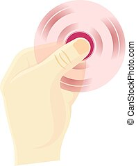 Hand spinner flat vector illustration. Hand spinner tricks....