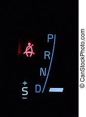 Fasten seat belt sign in car