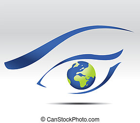 future vision - Vector illustration of eye logo, future...