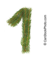 NUMBER 1 - Christmas tree decoration - part of a full set