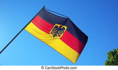 Flag Of Germany. - Flag Of Germany on the background of the...