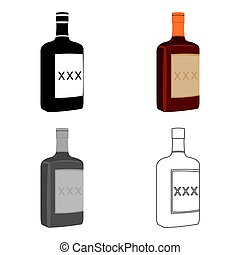 Alcohol icon cartoon. Singe western icon from the wild west cartoon.