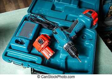 Screwdriver in the box - Screwdriver placed in the box in...