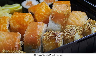 Sticks Take Sushi from Sushi Box - Sticks Take Sushi from...