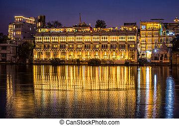 Lake Pichola Rajasthan - Lake Pichola and Taj Lake Palace ,...