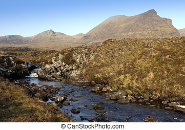 Quinag - View towards Quinag in Sutherland Highlands...