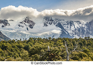 Snowy Andes Mountains, El Chalten Argentina - Patagonia...