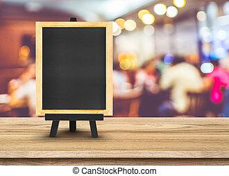 somando, cavalete, espaço, madeira, quadro-negro, restaurante, conteúdo, fundo,  menu, Borrão, tabela, cópia, seu