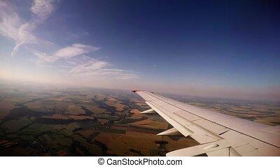 Flying an airplane wing. 4K. - Flying an airplane wing. Shot...