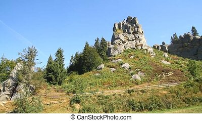 Carpathian Mountains in Tustan