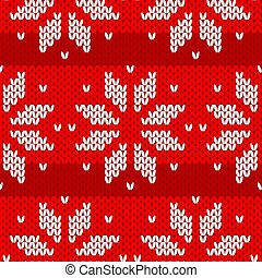 red and white  sweater winter seamless pattern