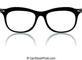 black glasses frames vector eps 10