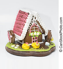 the traditional gingerbread house