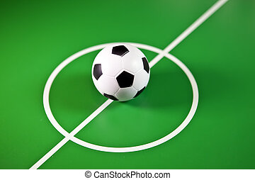 juguete,  Soccerball, centro,  midfield, campo, verde