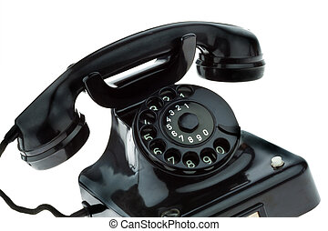 Antique, old retro phone Fixed phone - An old, old landline...