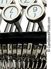 Ancient, old typewriter - An old, old typewriter....