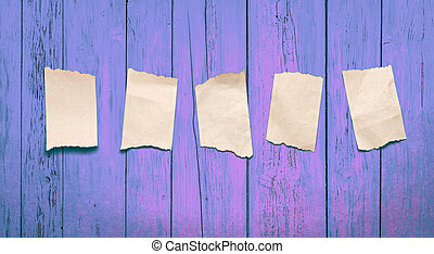Scraps placed on the pink wooden background