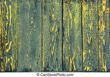 Coloured rostrum made of wooden planks as background