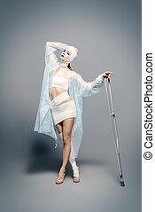 health and beauty - Fashion shot. Gorgeous female model in...