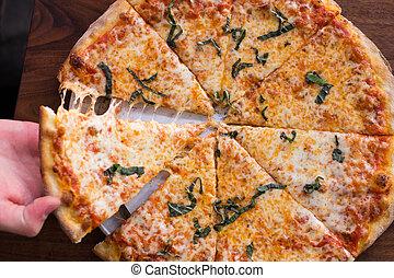 ladrillo, horno,  pizza