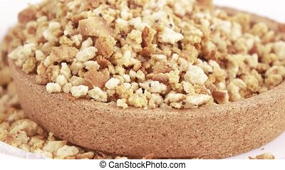 Cookie crumbs and bread