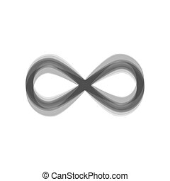 Limitless symbol illustration. Vector. Gray icon shaked at...