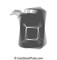 Jerrycan oil sign. Jerry can oil sign. Vector. Gray icon...