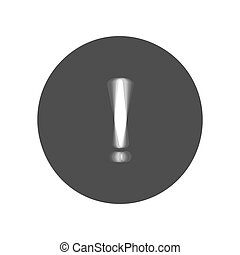 Exclamation mark sign. Vector. Gray icon shaked at white...
