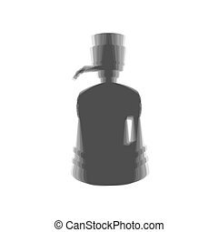 Plastic bottle silhouette with water and siphon. Vector....