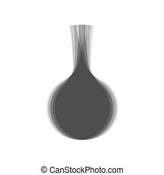 Enema sign. Vector. Gray icon shaked at white background.